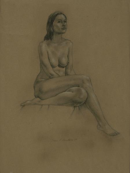 """Female Figure Drawing No. 0208-2013"""