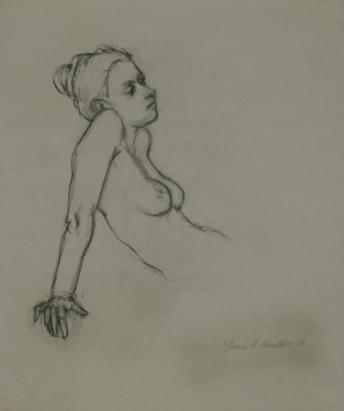 """Female Figure Drawing #0210-2013"""