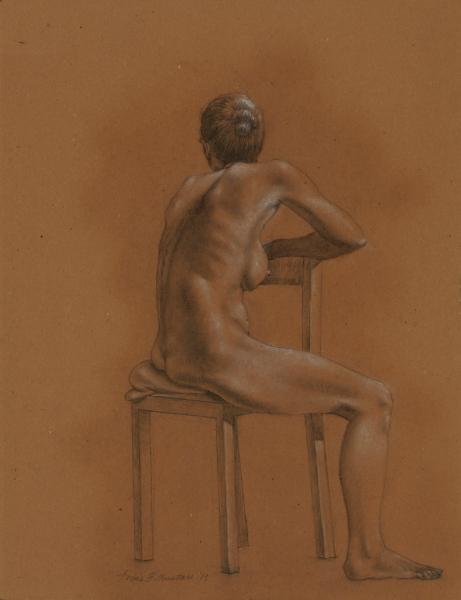 """Female Figure Drawing #0134-2013"""