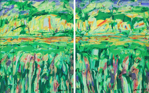 """""""Growth Triptych""""  Left & Center Panels"""