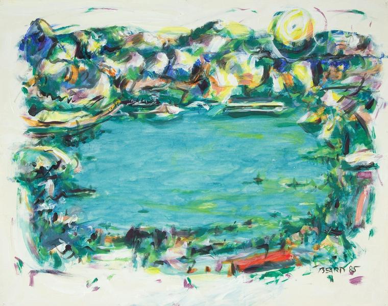 """White Edged Series:  Generalized Landscape No. 25"""
