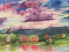 Tribute To My Mom, The Rhine River Valley-unframed