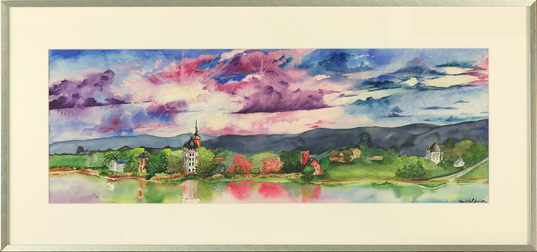 Tribute To My Mom, The Rhine River Valley-framed