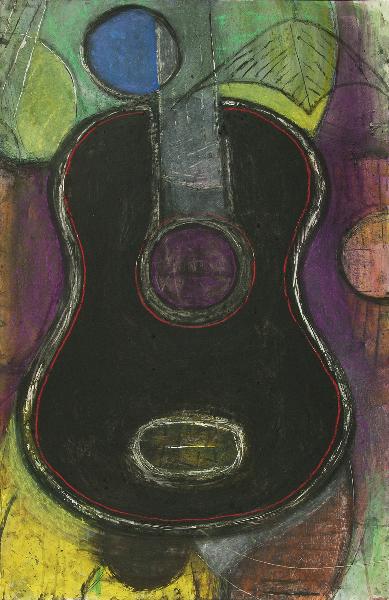 Black Guitar Still Life
