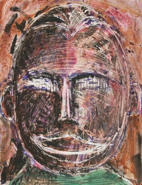 Autoportrait with Nigerian Mask